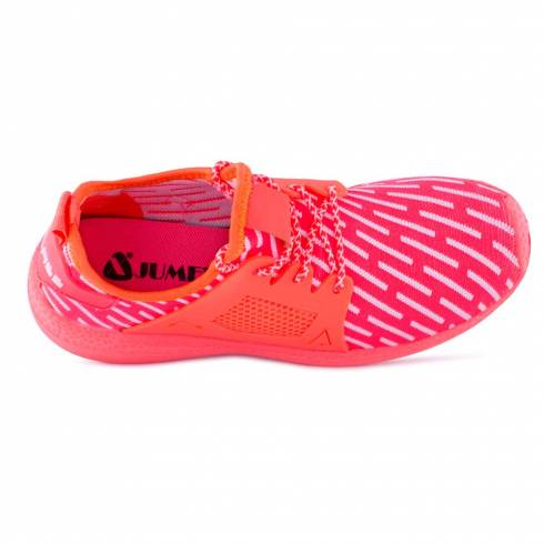 Sneakers, Jumex Collection, roz-portocaliu-alb