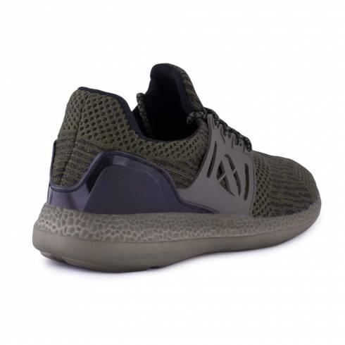 Sneakers, Jumex Collection, verde-negru cu siret
