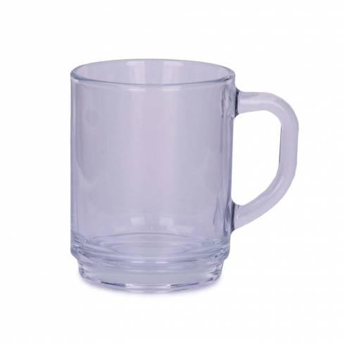 Cana cafea, din sticla, transparenta