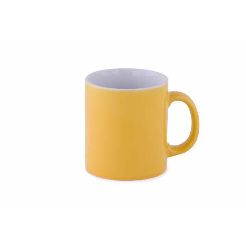 Cana de ceramica, galben