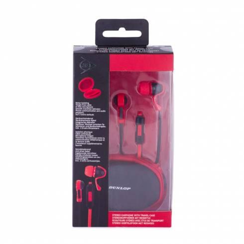 Casti stereo, Dunlop, rosu-negru