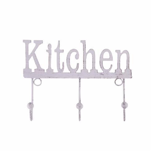 "Cuier metalic, subtire, ""Kitchen"""