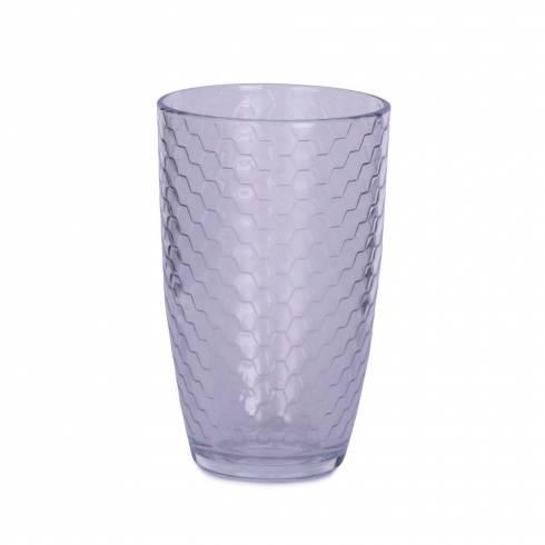 Pahar de sticla, cu model fagure