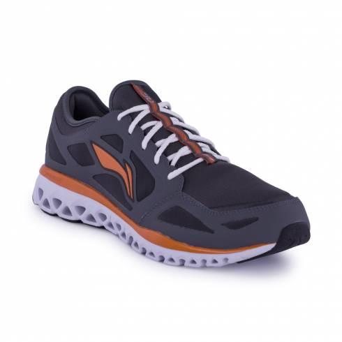 Pantofi sport gri-alb-portocaliu