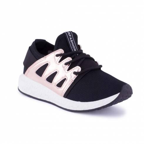 Sneakers, Jumex Collection, negru-auriu