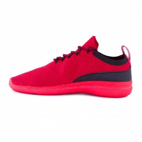 Sneakers, Jumex Collection, rosu-negru cu sireturi