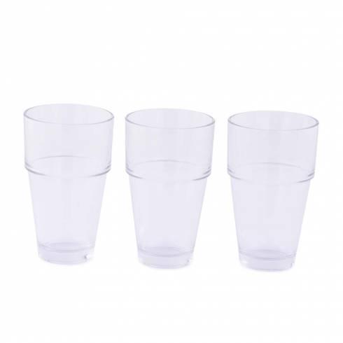 Set 3 pahare de sticla, transparente