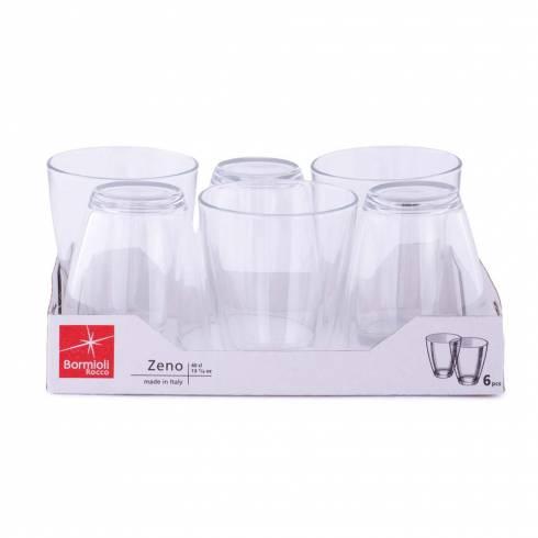 Set 6 pahare de sticla, transparente