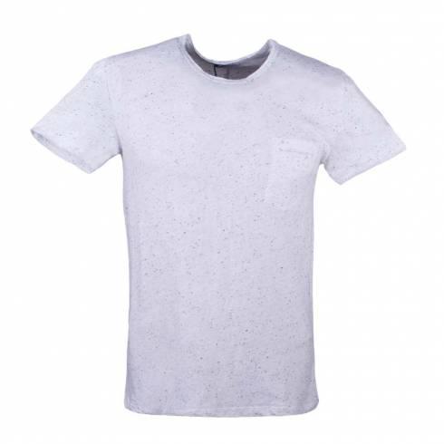 Tricou barbati, alb cu puncte negre