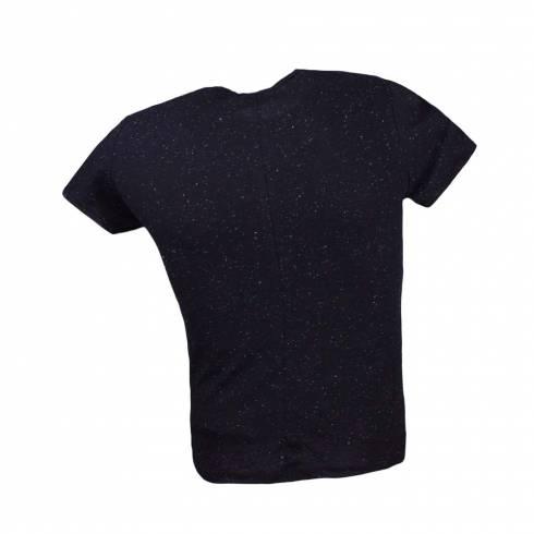 Tricou barbati, negru cu puncte albe