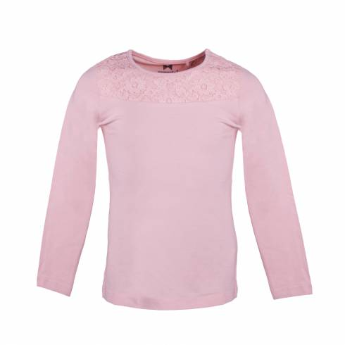 Bluza pentru copii, Pepperts, roz, cu dantela