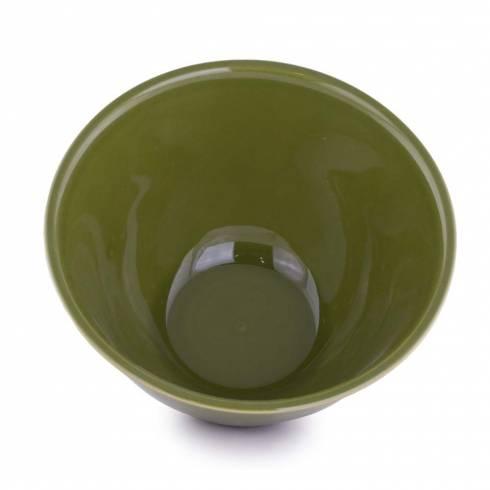 Bol pentru salata, din ceramica, vernil