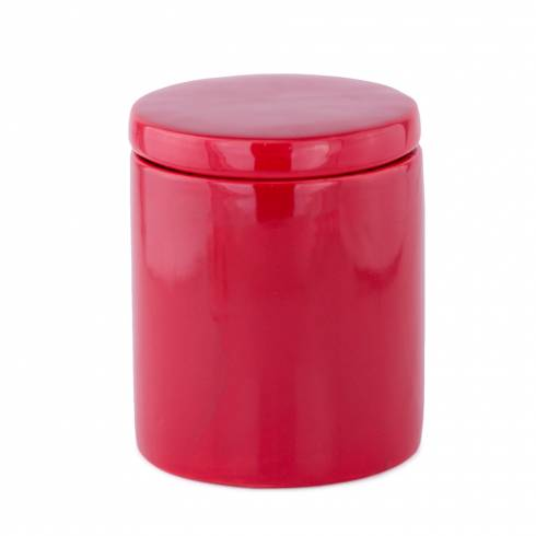 Recipient cu capac, Pitt deco, din ceramica, rosu