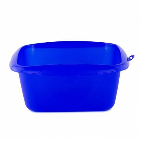 Bol de plastic, albastru, 8 l, 34 cm