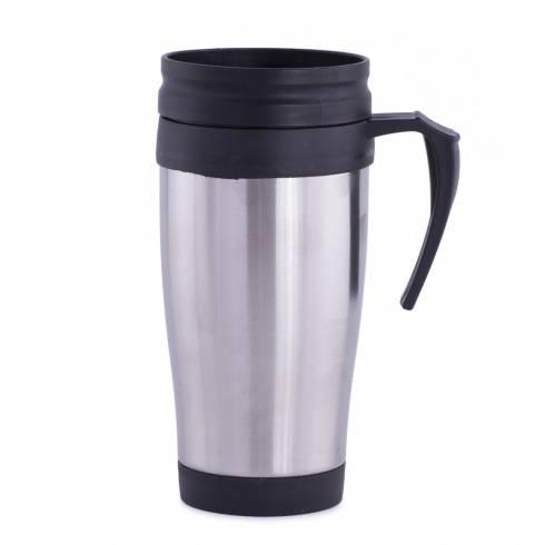 Cana termos pentru cafea, inox-plastic