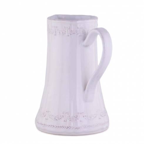 Carafa vintage, din ceramica, alb-crem