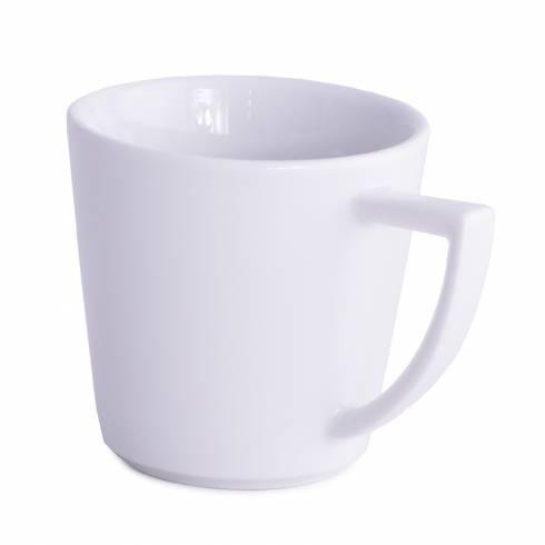 Ceasca de cafea, alba, din ceramica, 200 ml 