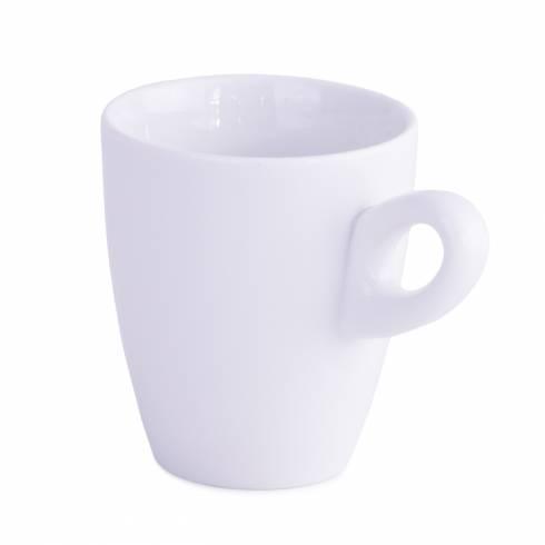 Ceasca inalta de cafea, din ceramica, alba
