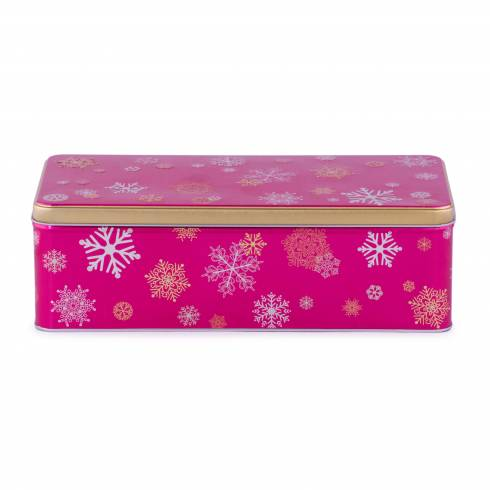 Cutie cu capac, Christmas, din metal, roz