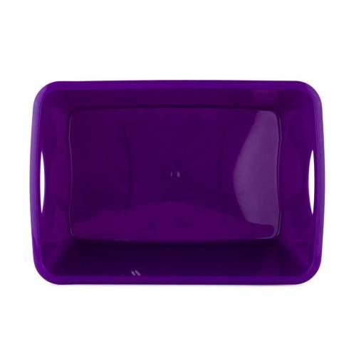 Cutie pentru depozitare din plastic, mov, 28×19×14cm