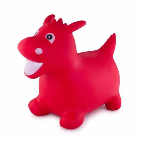 Jucarie gonflabila, dinozaur, rosu
