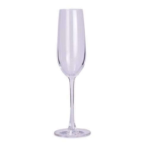 Pahar de sampanie, F&D, din sticla