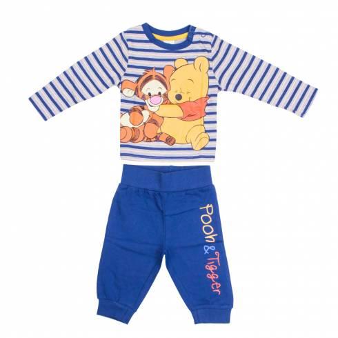 Pijamale Disney baby, albastru-gri-galben