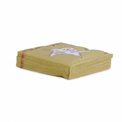 Servetele de Craciun Ideal home range, auriu cu steluta alba