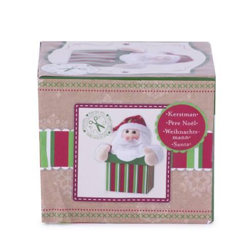 Set Mos Craciun, creativ, alb, rosu, cutie verde