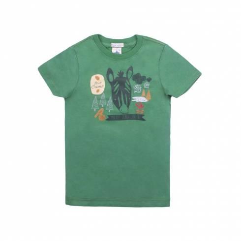 Tricou Police zebra, verde, cu imprimeu zebra