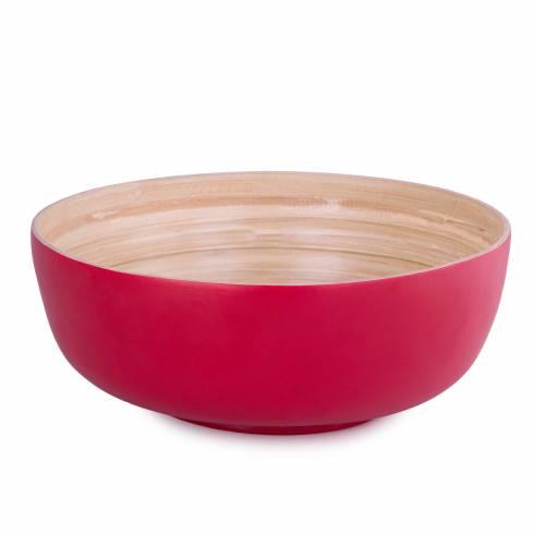 Bol bambus, rosu, diametru 30 cm