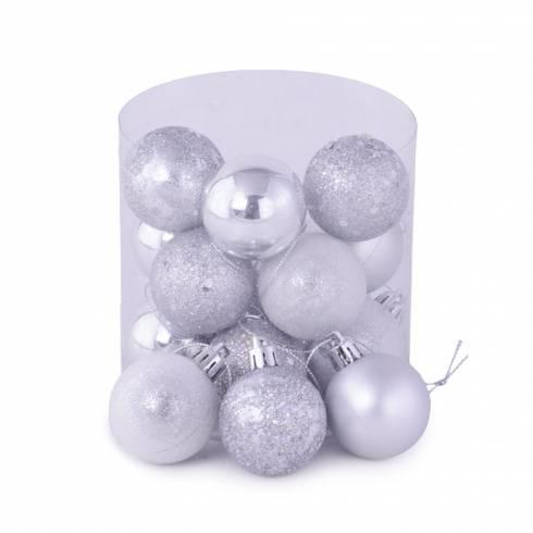 Set 15 globuri argintii