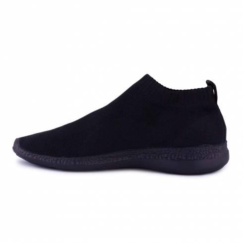 Sneakers, Jumex Collection, negru fara sireturi