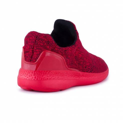 Sneakers, Jumex Collection, rosu-negru fara sireturi