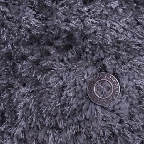 Covor dreptunghiular, Tom Tailor, gri inchis, cu fir, 85 x 155 cm
