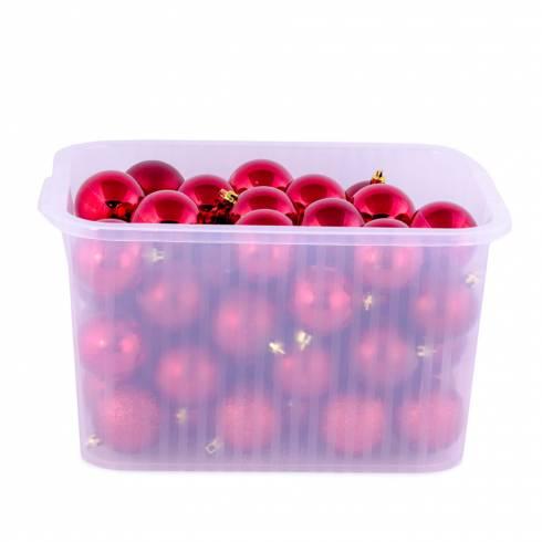 Set 60 globuri rosii
