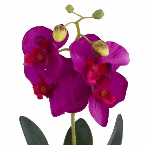 Ghiveci orhidee artificiala, mov