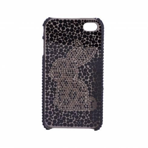 Husa iphone 4, din plastic, negru cu iepruas