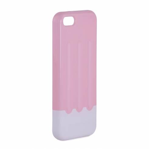 Husa iphone 5 din plastic, roz