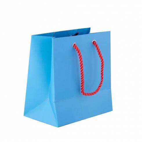 Punga de cadouri, din carton, albastra