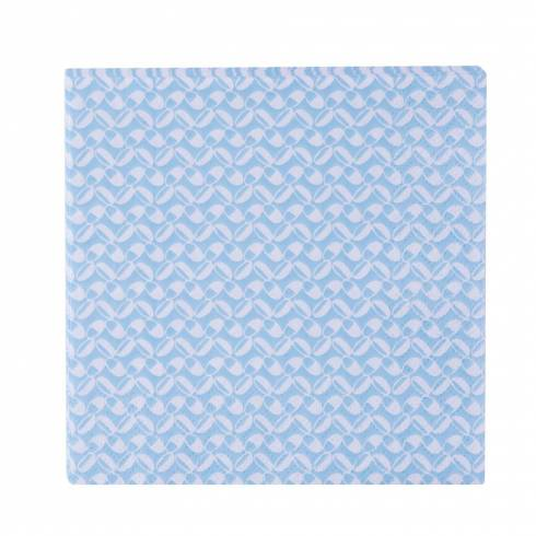 Servetele albastre, cu imprimeu alb