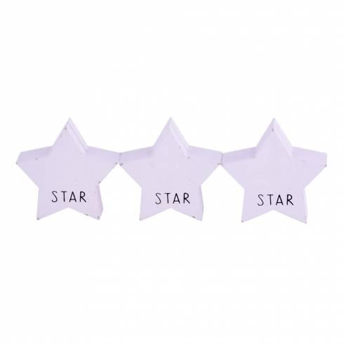 Set suport pentru poze, in forma de stea, alb