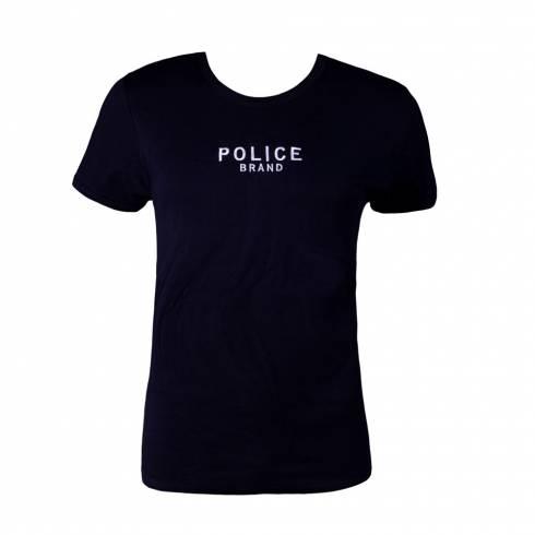 Tricou Police barbati, negru, cu scris