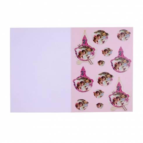 Carte creativa, de Craciun, rosu-verde