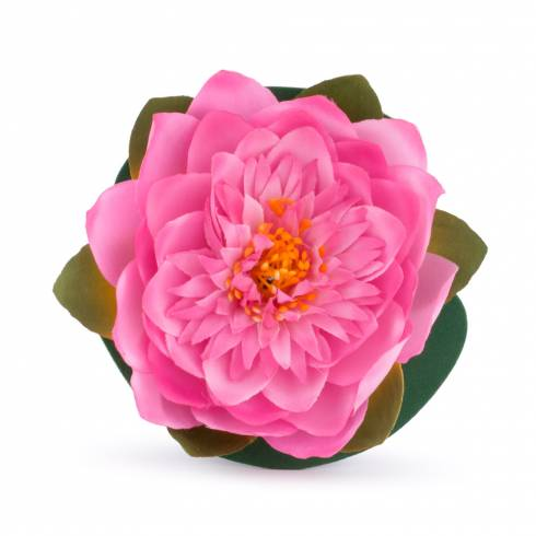 Nufar roz, din plastic, 15 cm