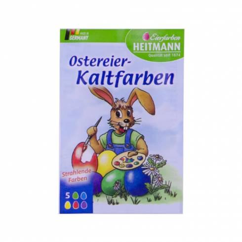 Vopsea oua, pastile, Eierfarben heitman, 5 culori