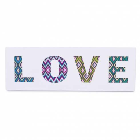 Tablou decorativ LOVE, alb