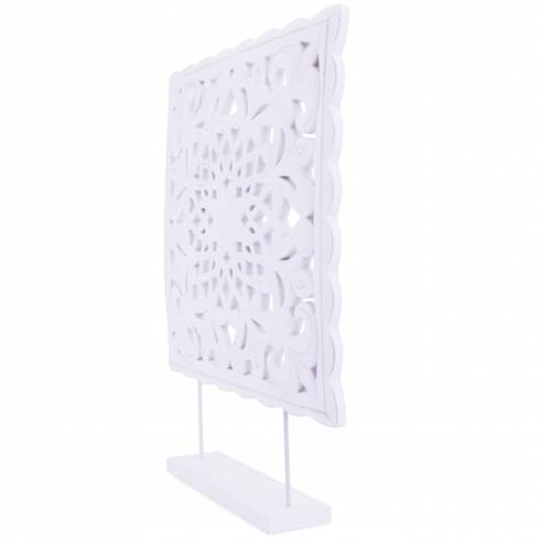 Panou decorativ, din lemn, alb