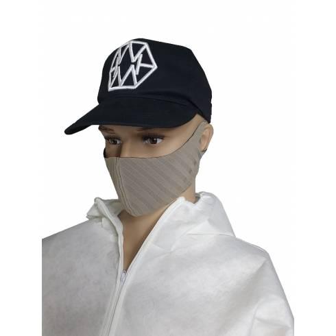 Masca de protectie, material textil, bej