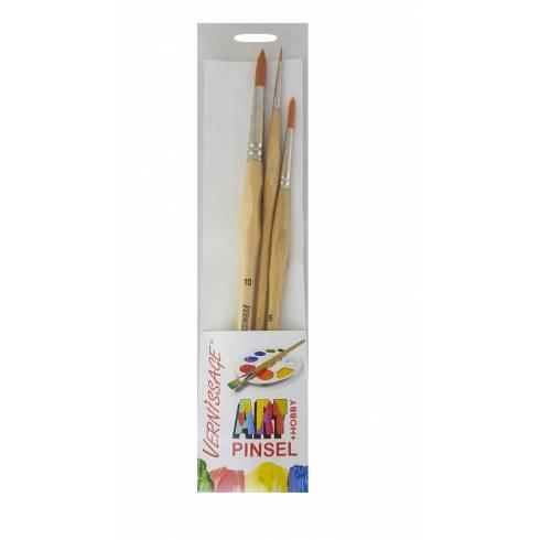 Set 3 pensule, pentru pictat